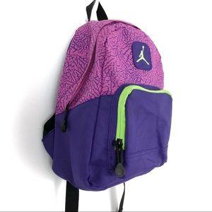 137dd247d33283 Jordan Bags - Mini Jordan Backpack 90s Neon Green Purple Jumpman